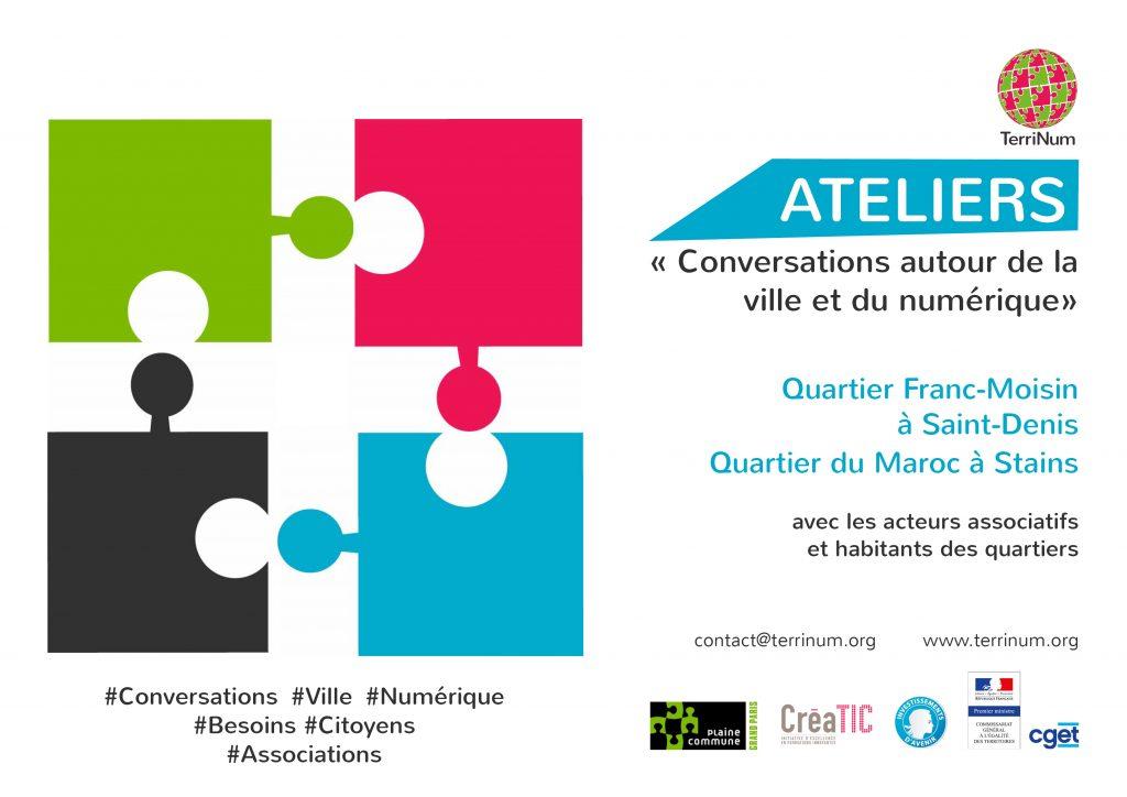 Ateliers ville et numérique - CGET - quartier du Maroc Stains et quartier Franc-Moisin Saint-Denis